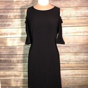 Tommy Hilfiger Black Cold Shoulder Stealth Dress